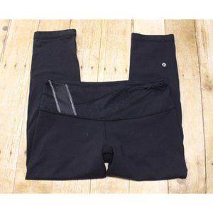 Lululemon womens 8 crop capri leggings black